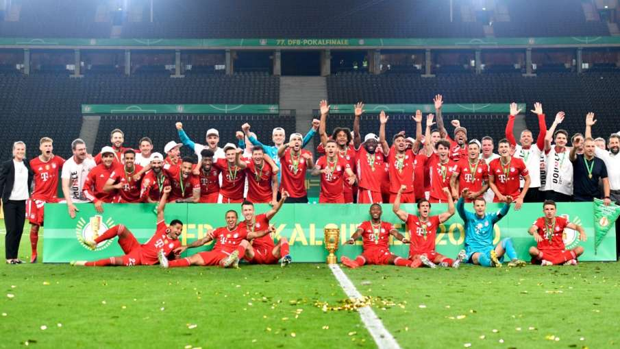Bayern Munich complete the 'double' of the domestic title by winning the German Cup final- India TV Hindi