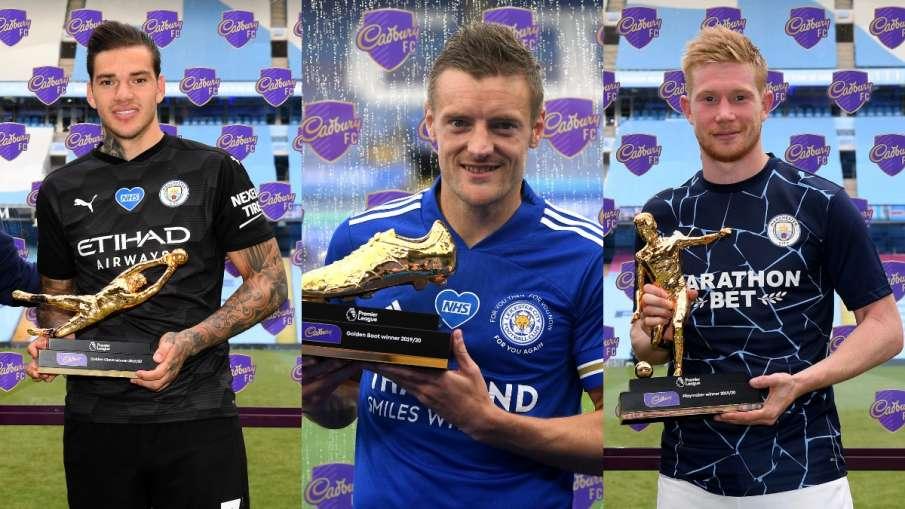 Leicester City striker Jamie Vardy won the Premier League Golden Boot Award- India TV Hindi