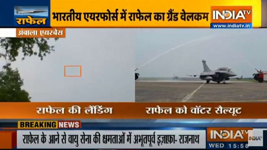 The Birds have landed safely in Ambala: Rajnath Singh on Rafale aircrafts- India TV Hindi
