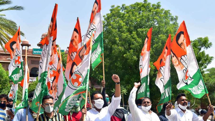Congress workers protest against Rajasthan Governors decision to not call Assembly session- India TV Hindi