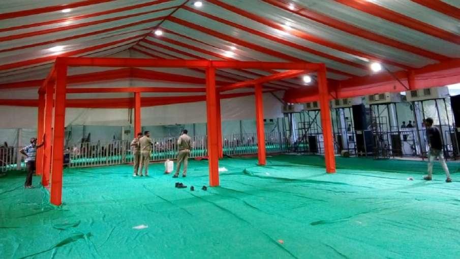 राम मंदिर भूमि पूजन के लिए पंडाल तैयार- India TV Hindi