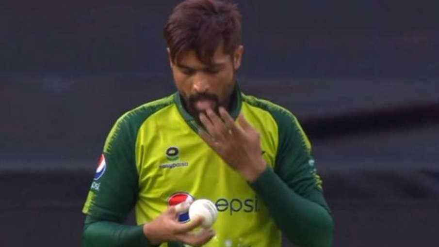 ENG vs PAK 1st T20I: Mohammad Amir breaks ICC rules by using slide on ball- India TV Hindi