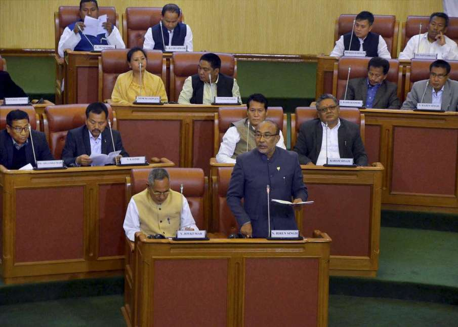 Floor Test in Manipur Assembly Today, Congress & BJP Issue Whips for MLAs- India TV Hindi
