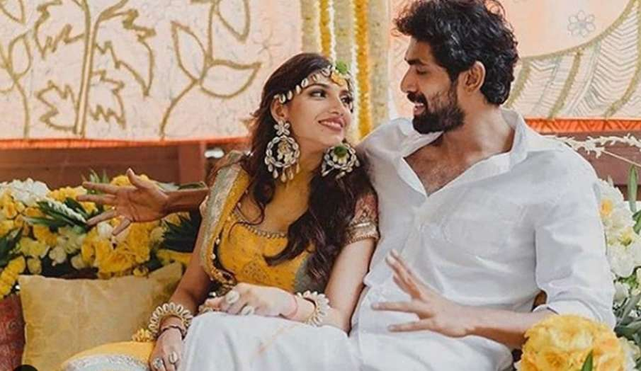 राणा दग्गुबाती और मिहिका बजाज की हल्दी सेरेमनी की तस्वीरें आईं सामने, यैलो लुक में बेहद खूबसूरत नजर- India TV Hindi