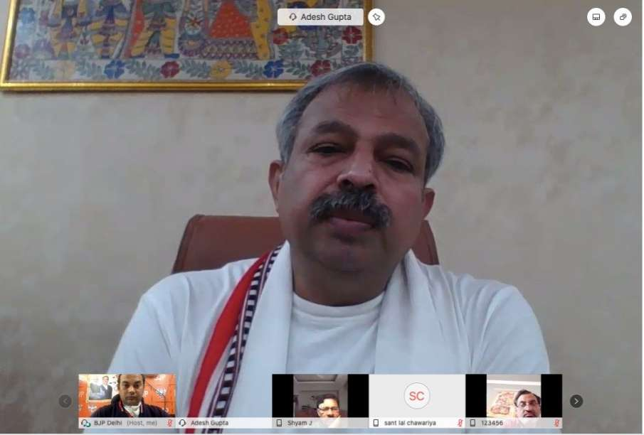 Delhi BJP President Adesh Gupta Coronaivurs Positive- India TV Hindi