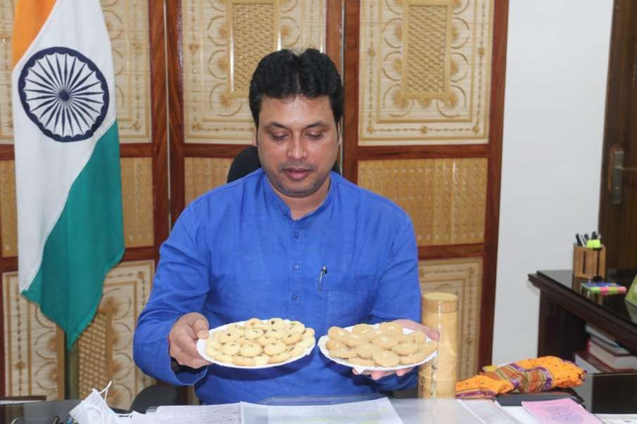 Bamboo made biscuits launched by Tripura Chief Minister Biplab Deb- India TV Hindi