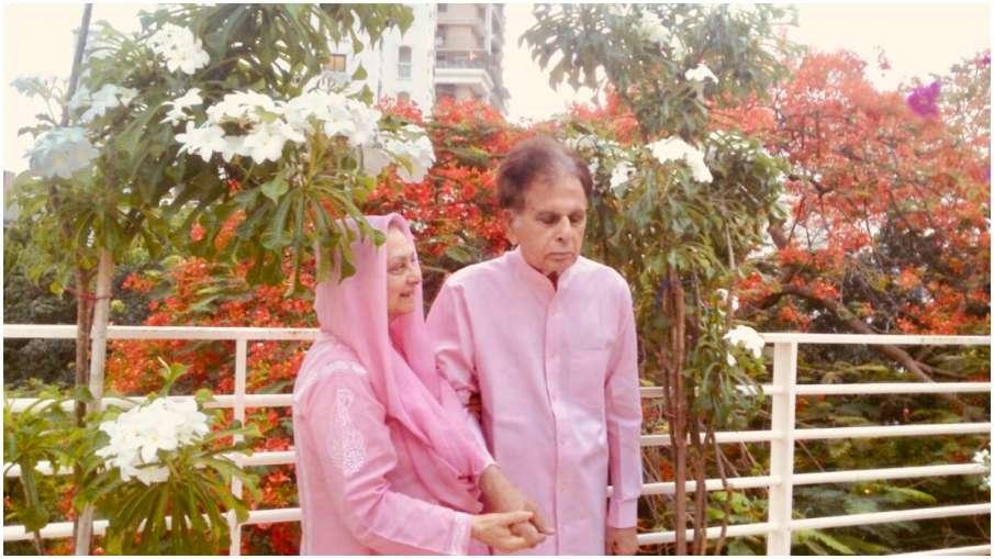 Dilip Kumar and Saira Banu new photo, stars seen twinnig in pink - India TV Hindi