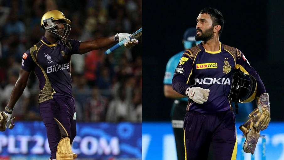 Andre Russell and Dinesh Karthik- India TV Hindi