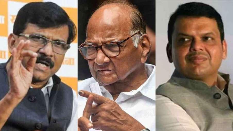 Saharad Pawar, Sanjay Raut meets Devendra Fadnavis, Sanjay Raut, Devendra Fadnavis- India TV Hindi