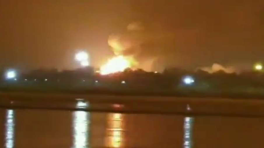 Oil and Natural Gas Corporation ONGC Surat plant fire- India TV Hindi