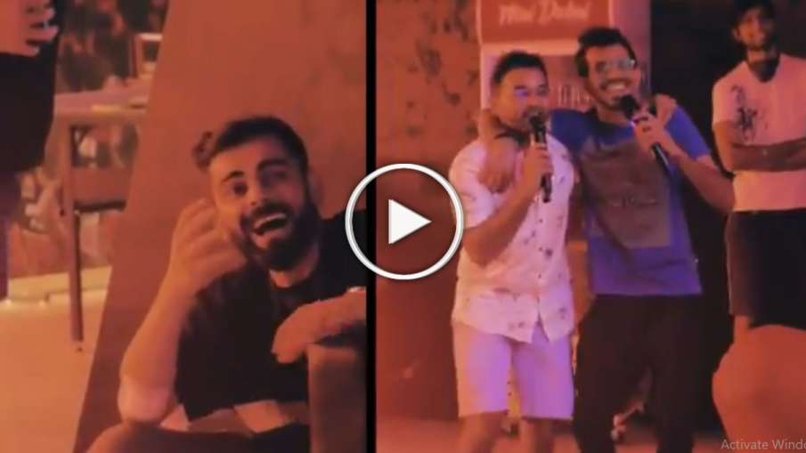 Virat Kohli Laughed When Yuzvendra Chahal and Parthiv Patel Sing Mere Sapno Ki raani kb aaegi tu- India TV Hindi