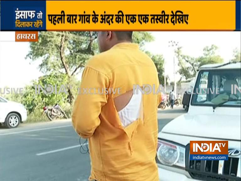 हाथरस केस: मीडिया बैन को लेकर पहली बार पुलिस ने बताई वजह, इंडिया टीवी संवाददाता की फाड़ी शर्ट- India TV Hindi