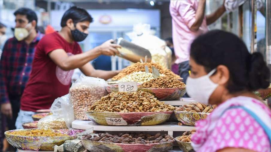New Delhi: Dry fruits for sale at Chandni Chowk market...- India TV Hindi