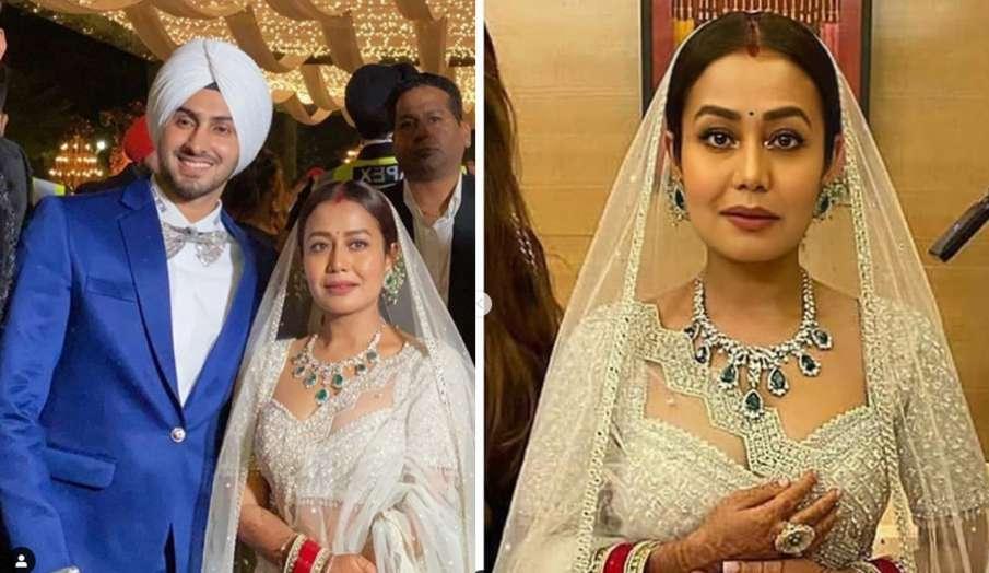 वेडिंग रिसेप्शन पार्टी में पति रोहनप्रीत सिंह के साथ बेहद खूबसूरत दिखीं नेहा कक्कड़, तस्वीरों से नही- India TV Hindi