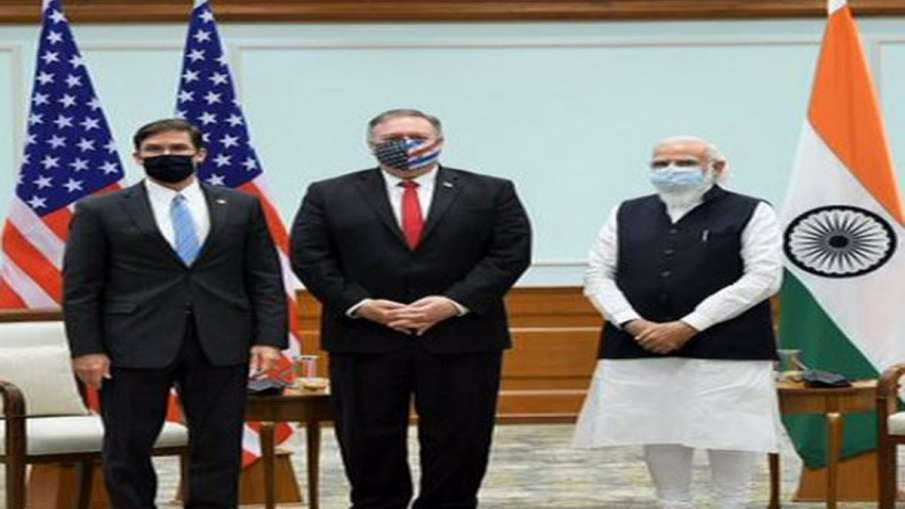 Pompeo, Asper Meet PM Modi After 2+2 Dialogue- India TV Hindi