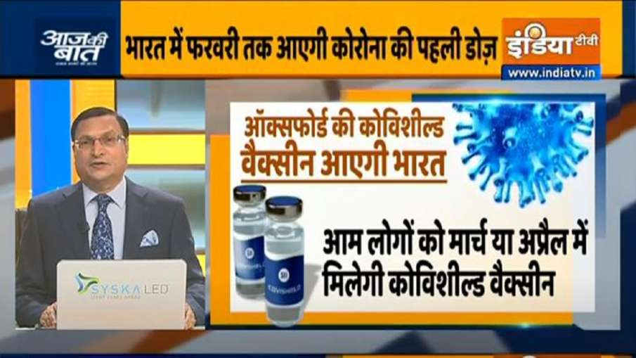 Good News!  Corona's first dose will arrive in India by February- India TV Hindi
