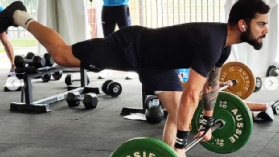 Virat Kohli seen sweating in gym before ODI series against Australia- India TV Hindi