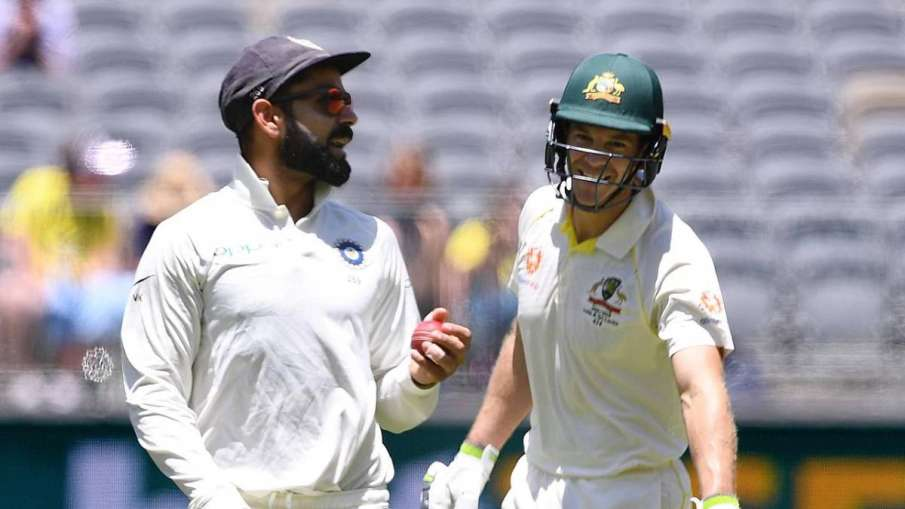 IND vs AUS : Virat Kohli feels 'pointless', splashing, but Tim Paine will not back down if needed- India TV Hindi
