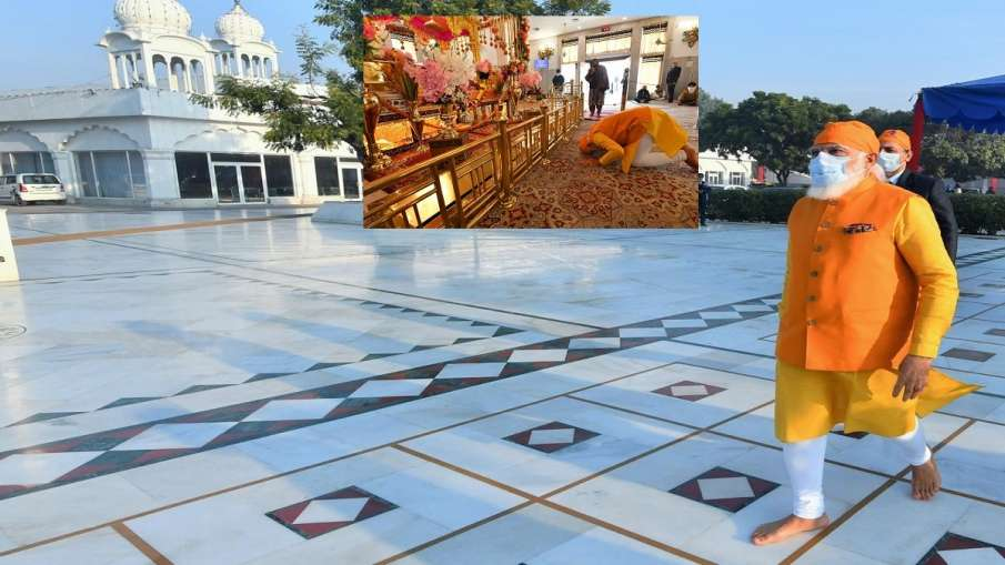 PM Narendra Modi visited Gurudwara Rakab Ganj Sahib in Delhi । अचानक रकबगंज साहिब गुरुद्वारे पहुंचे - India TV Hindi