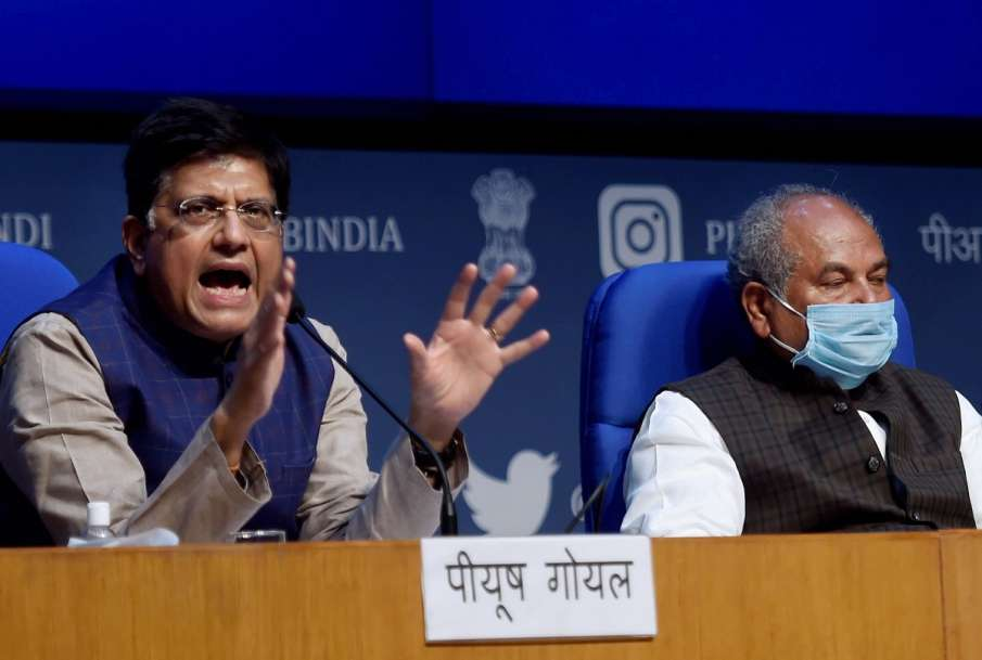 Who is behind farmers' protest? Tomar, Goyal ask media to investigate- India TV Hindi