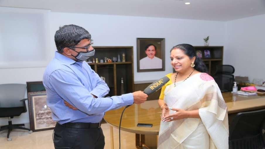 GHMC Election Results Telangana CM KCR daughter kavita interview । GHMC Election Results: क्या BJP न- India TV Hindi