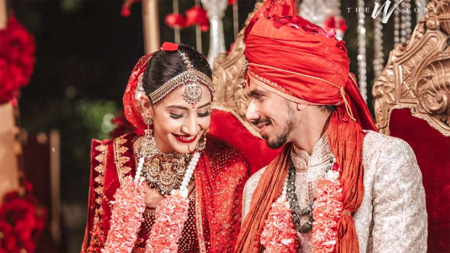 Yuzvendra Chahal and Dhanshree Verma tied in marriage, pictures on Twitter went viral - India TV Hindi