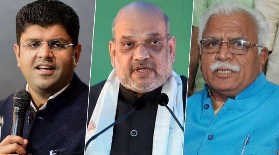 Farmers Protest: Haryana CM Manohar Lal Khattar, Dy CM Dushyant Chautala meet Home Minister Amit Sha- India TV Hindi