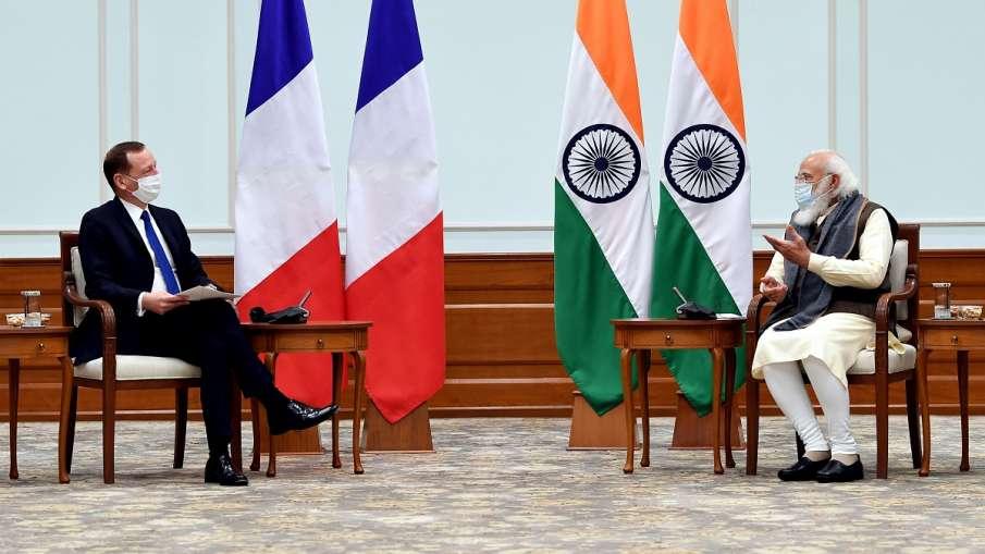 फ्रांसीसी राष्ट्रपति के सलाहकार इमैनुएल बोन ने PM मोदी से की मुलाकात, कई मुद्दों पर हुई चर्चा- India TV Hindi