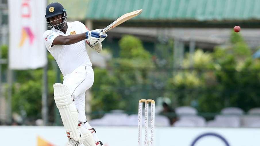 Sri Lanka vs England 1st Test Mark Wood bowls a 91MPH ripper, breaks Angelo Mathews bat into two pie- India TV Hindi