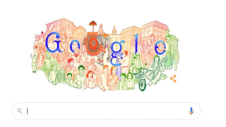 Google Doodle on Republic Day 72वें गणतंत्र दिवस पर गूगल ने भारत की रंगीन विरासत का बनाया डूडल- India TV Hindi
