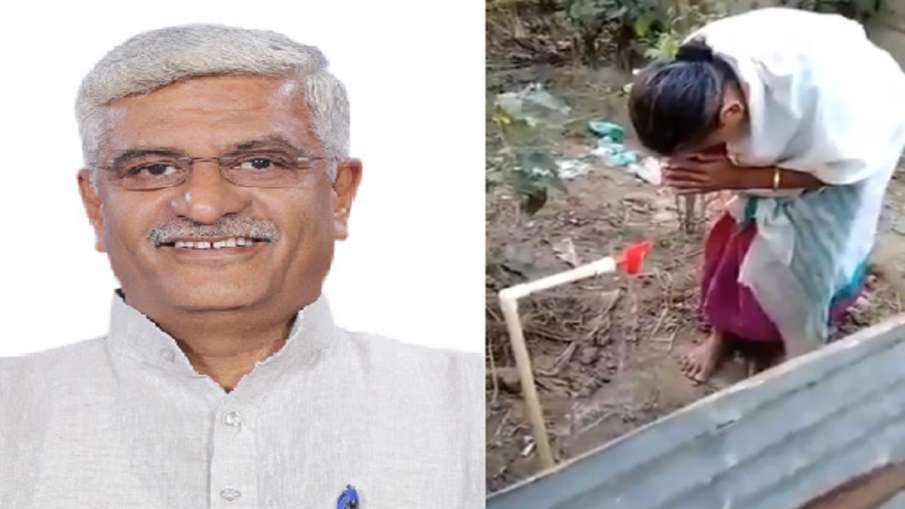 Assam Woman first time see Piped tap water at house emotional video shared by Jal Shakti Minister Ga- India TV Hindi