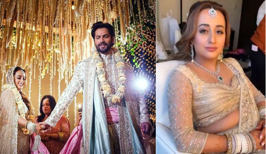 natasha dalal bridal look video - India TV Hindi