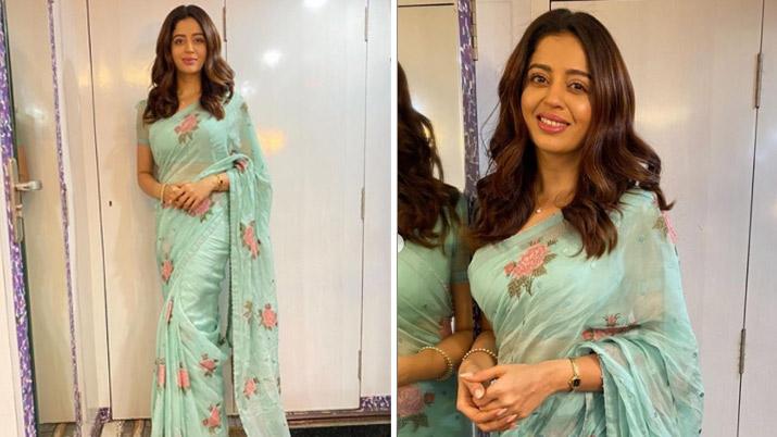 नेहा पेंडसे ने शुरू किया 'भाबीजी घर पर हैं' की शूटिंग, शेयर की पहले दिन की तस्वीर- India TV Hindi