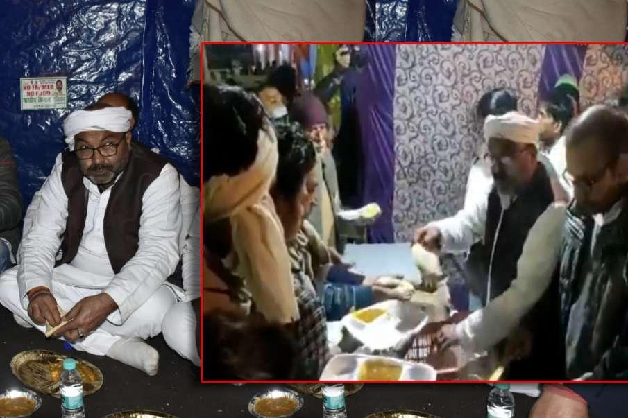 UP कांग्रेस अध्यक्ष अजय कुमार लल्लू ने किसानों के बीच की लंगर सेवा, कहा- 'पसीने से फसल सींचकर देश का- India TV Hindi