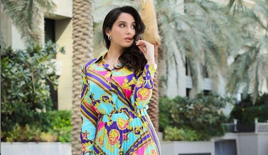 नोरा फतेही फ्लोरल स्कर्ट-शर्ट में नजर आईं स्टनिंग, सोशल मीडिया में तस्वीरें हुई वायरल- India TV Hindi