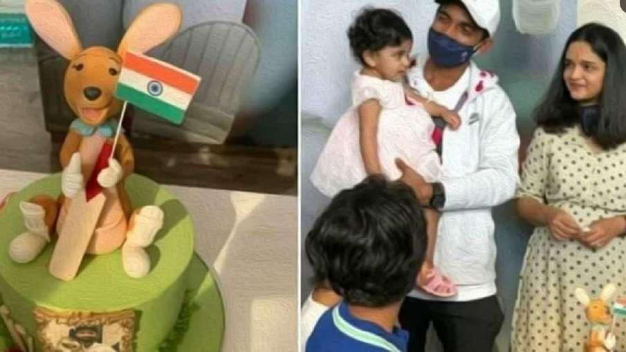 Ajinkya Rahane with Kangaroo cake- India TV Hindi
