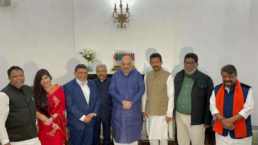 Former TMC leaders Rajib Banerjee, Ms. Baishali Dalmiya, Mr. Prabir Ghoshal, Mr. Rathin Chakraborti - India TV Hindi