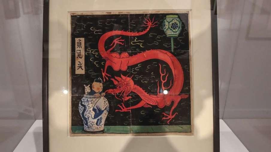 Tintin painting, Tintin Auction, Tintin The Blue Lotus, The Blue Lotus Tintin- India TV Hindi