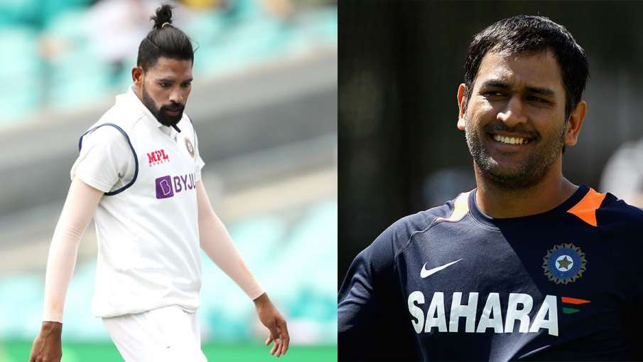 IND vs AUS: Wasim Jaffer boosted Mohammed Siraj through this statement of MS Dhoni - India TV Hindi