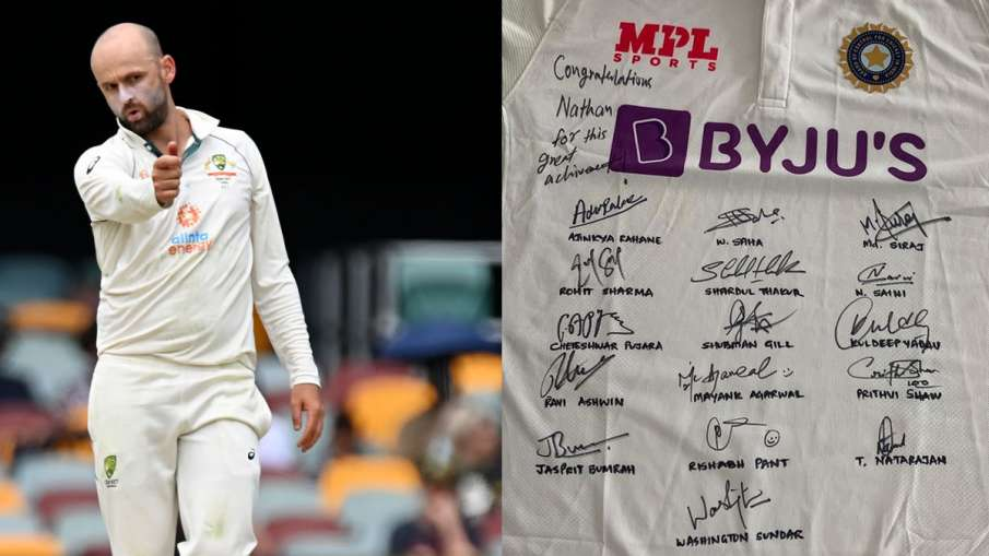 Nathan Lyon shares the jersey given by Team India on Instagram- India TV Hindi