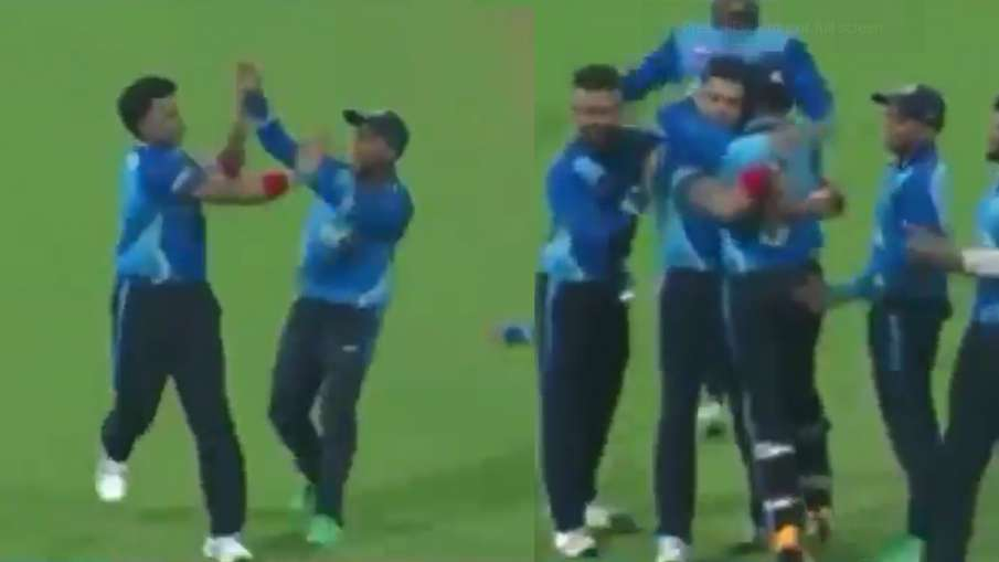After 7 years, Sreesanth landed on the field, after taking the first wicket, celebrate something lik- India TV Hindi