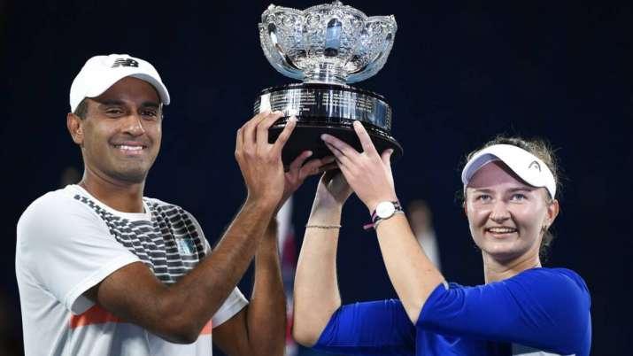 Australian Open 2021: Barbora Krejcikova, Rajeev Ram win second mixed doubles title in 3 years- India TV Hindi