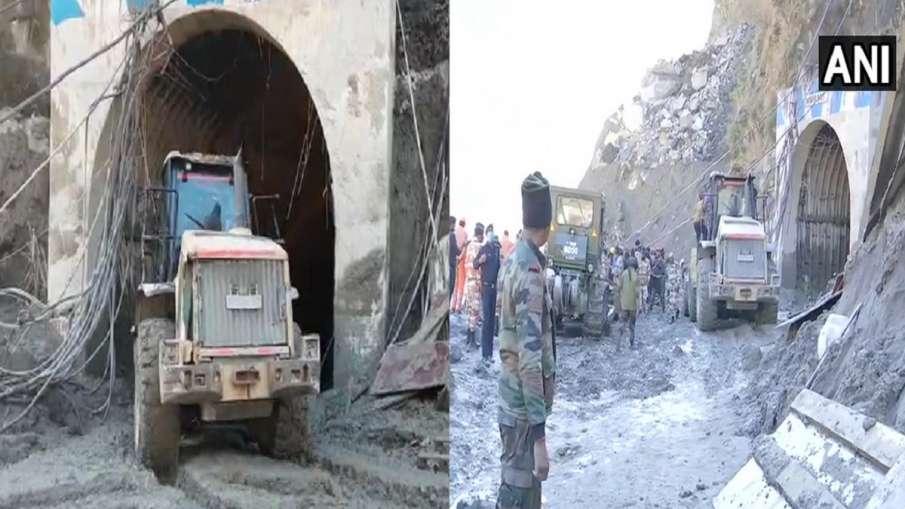Chamoli news tunnel rescue operation itbp army latest news Chamoli: बड़ी टनल को 70 मीटर तक खोला गया,- India TV Hindi