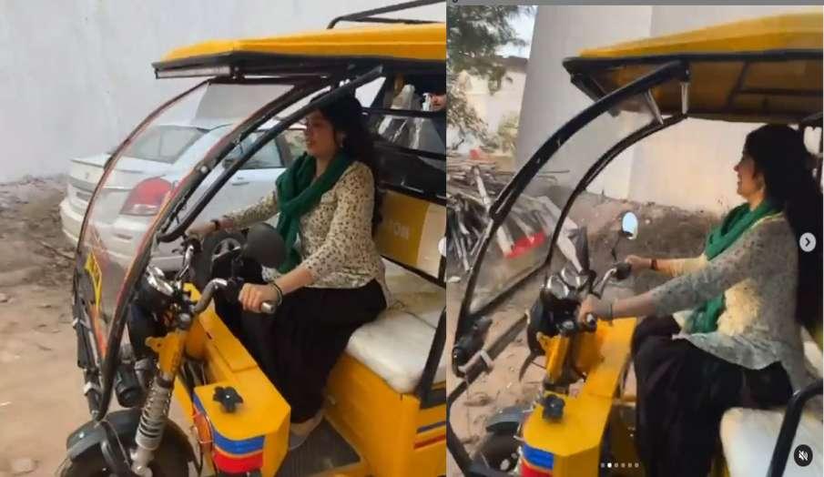 पंजाब की कच्ची सड़कों में ई रिक्शा चलाती दिखीं जाह्नवी कपूर, देखें वीडियो- India TV Hindi