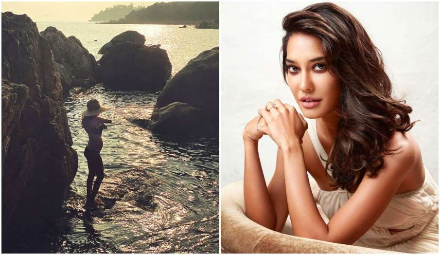 lisa haydon flaunts baby bump for the first time- India TV Hindi