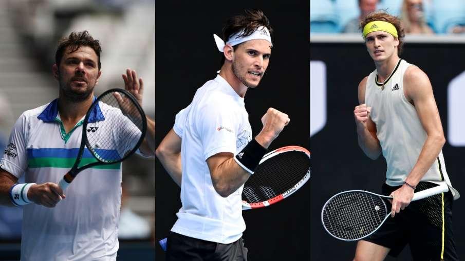 Stans Wawrinka, Alexander Zverev, Dominic Thiem,- India TV Hindi