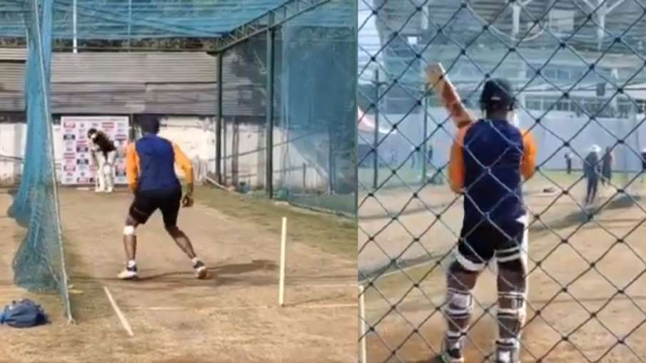 Axar Patel showing fit and practicing in the nets, can return in the second Test Watch Video- India TV Hindi