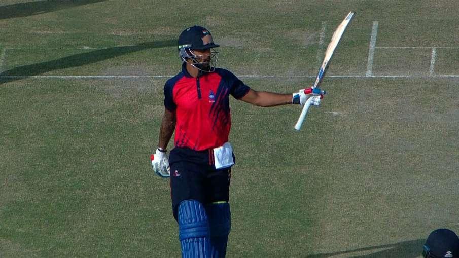 Shikhar Dhawan scored 153 runs against Maharashtra, Delhi achieved the target of 329 runs Vijay Haza- India TV Hindi
