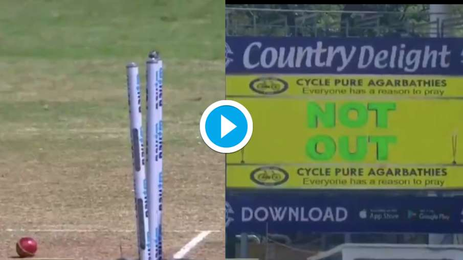 IND vs ENG The wicket fell, the bails fell but still this Indian batsman was not out, Watch Video- India TV Hindi