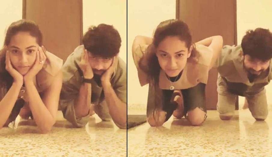 shahid kapoor gravity challenge with wife mira rajput - India TV Hindi